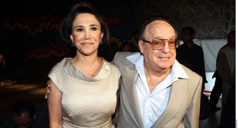 Florinda Meza y Roberto Gómez Bolaños pasaron muchos años juntos, pero se casaron en 2004 (Foto: AFP)