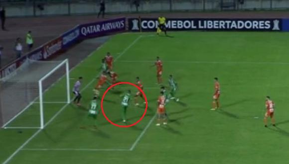 Juan Pablo Ramírez falló una clara ocasión de gol en Copa Libertadores. (Captura: YouTube)