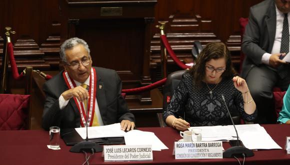Presidente del Poder Judicial expone ante la Comisión de Constitución. (Foto:GEC/ Rolly Reyna)