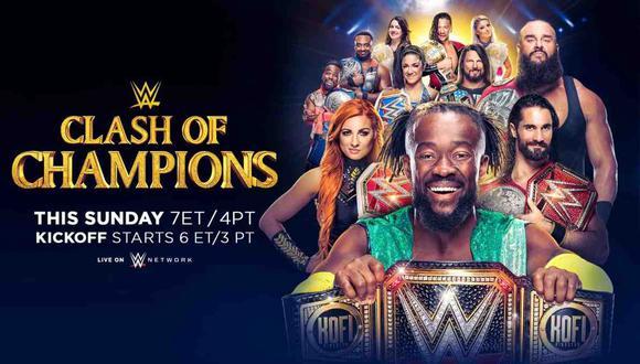 WWE Clash of Champions 2019: sigue el evento desde el Spectrum Center de Charlotte. (Foto: WWE)