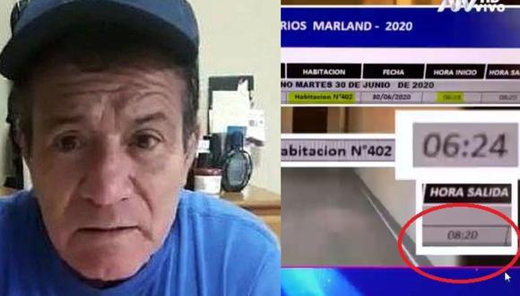 Paloma de la Guaracha mostró a que hora salió Miguelito Barraza de hotel. (Captura Magaly TV La Firme/ ATV)