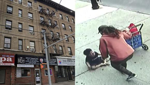 Un video viral muestra cómo un niño sobrevivió de milagro a una aparatosa caída desde el quinto piso de un edificio.   Crédito: Google Maps / CBS New York / YouTube