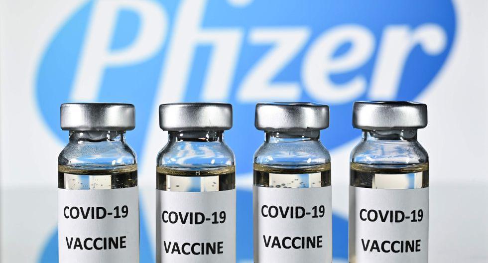 Vacuna Pfizer contra el covid-19. Foto: AFP / JUSTIN TALLIS