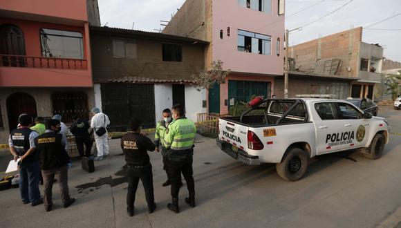 El extranjero fue atacado frente a la vivienda ubicada en la manzana B, lote 8, urbanización Paraíso, en Comas. (Foto: Andrés Paredes)