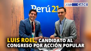 Luis Roel, candidato al congreso por Acción Popular [VIDEO]
