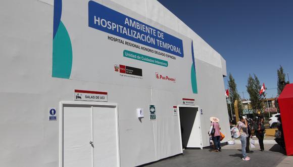 El director de hospital Honorio Delgado de Arequipa, Richard Hernández, informó que la infraestructura implementada estaría lista al 100% esta semana.