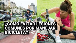 ¿Cómo evitar lesiones comunes por manejar bicicleta?