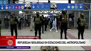 Metropolitano: Agentes del Grupo Terna podrán ingresar a las estaciones ante delincuencia