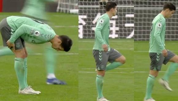 James Rodríguez llegó a Everton procedente de Real Madrid. (Captura: Premier League)