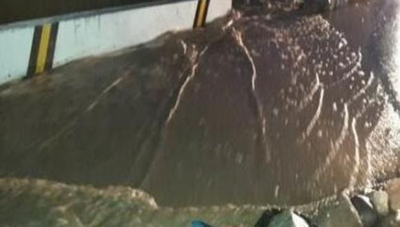 Un huaico, producto de las intensas lluvias, afectó vías de comunicación y el área de agricultura en el distrito de Aplao. (Foto: Indeci)