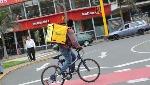 Transporte. El uso de bicicletas beneficiaría tanto a usuarios como al mismo servicio de delivery. (GEC)