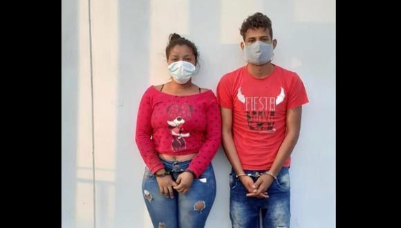 La pareja de extranjeros fue conducida a la dependencia policial tras apuñalar a su casero. (PNP)