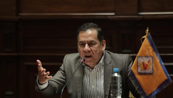 José Vega es congresista y vocero de la bancada Unión por el Perú. (Foto: Anthony Niño de Guzmán / @photo.gec)