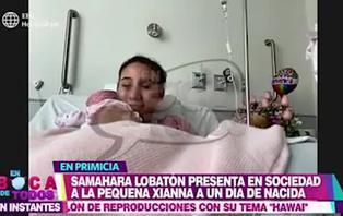 """Samahara Lobatón tras dar a luz a su hija Xianna: """"Es una experiencia única, estoy súper feliz"""""""