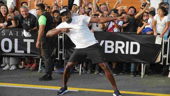 Usain Bolt recuerda la importancia del distanciamiento social de un forma particular. (Foto: GEC)