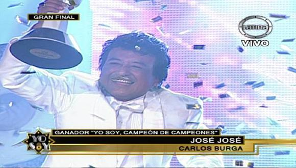 'José José', el gran ganador de 'Yo Soy: Campeón de Campeones'. (Frecuencia Latina)