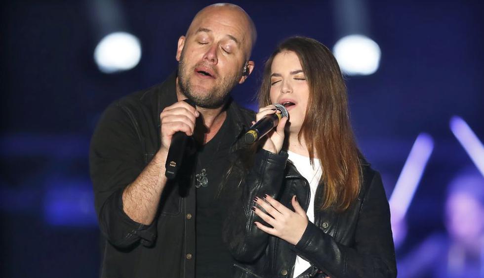 Gian Marco cantó en Juntos en concierto al lado de su hija Nicole. (Luis Gonzales/Perú21)
