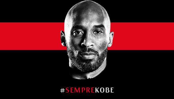 El homenaje de Milan a Kobe Bryant, uno de sus afamados fanáticos en el mundo. (Foto: @acmilan)
