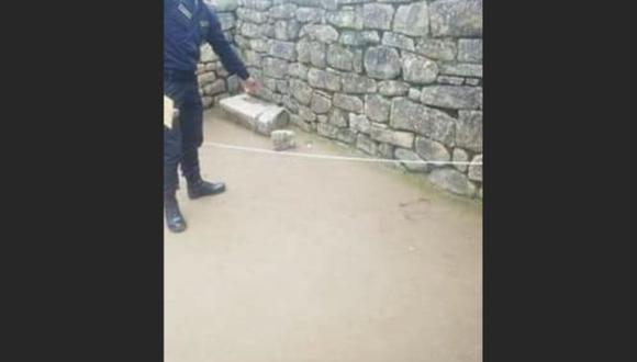 Agentes hallaron huellas de daño en la ciudadela inca. (Facebook)