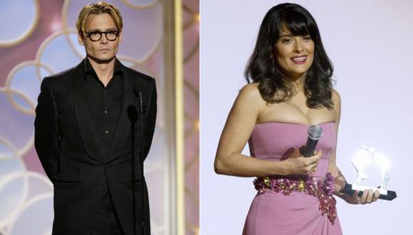 Johnny Depp y Salma Hayek, candidatos a peores actores del año . (AP/EFE)