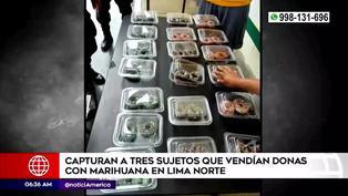 Lima Norte: capturan a jóvenes por comercializar postres hechos con marihuana