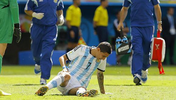 Ángel di María se despide del Mundial por desgarro muscular. (EFE)
