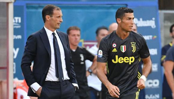 Cristiano Ronaldo busca romper la mala racha sin anotar con Juventus (Foto: AFP)