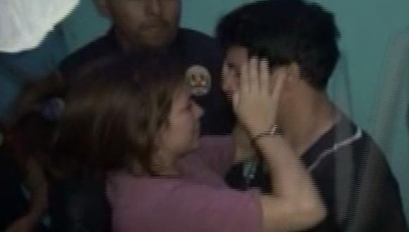 Ronny García fue capturado en medio del llanto de Karla Solf.