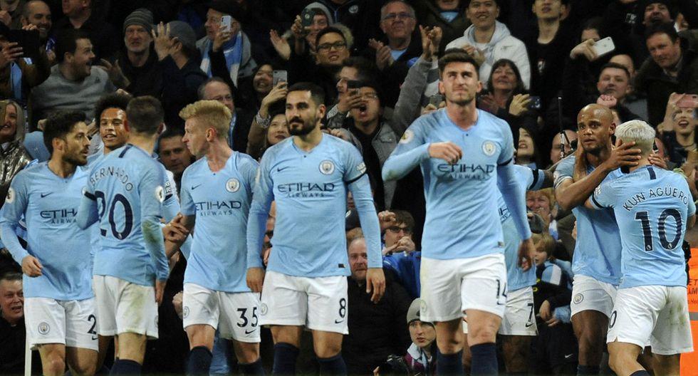 Manchester City tiene todo listo para celebrar este domingo el título de la Premier League. (Foto: AP)