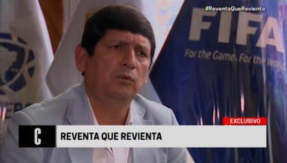 El presidente interino de la FPF, Agustín Lozano, negó estar implicado en la reventa de entradas y descartó que vaya a renunciar. (Cuarto Poder)