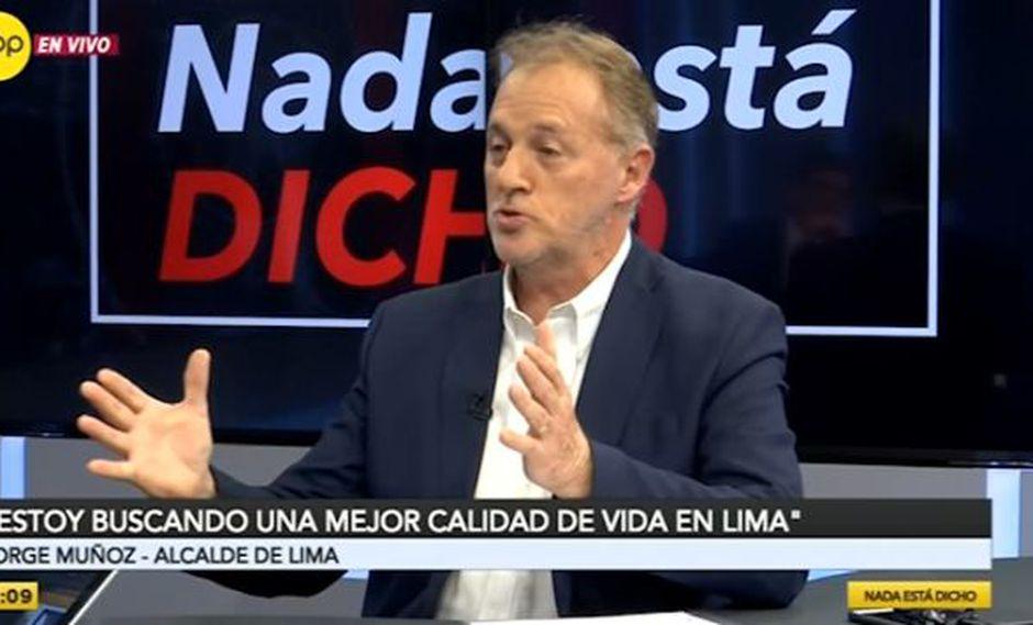 El alcalde de Lima,Jorge Muñoz, dio detalles de su plan para reordenar el tránsito en la capital. (RPP Televisión)