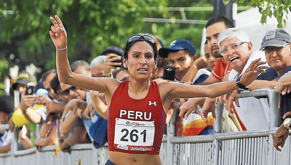 Gladys Tejeda, oro en la Media Maratón en los Bolivarianos. Además, se coronó en la Maratón de México. (USI)