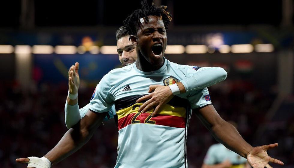 Bélgica goleó 4-0 a Hungría y clasificó a los cuartos de final de la Eurocopa 2016. (AFP)