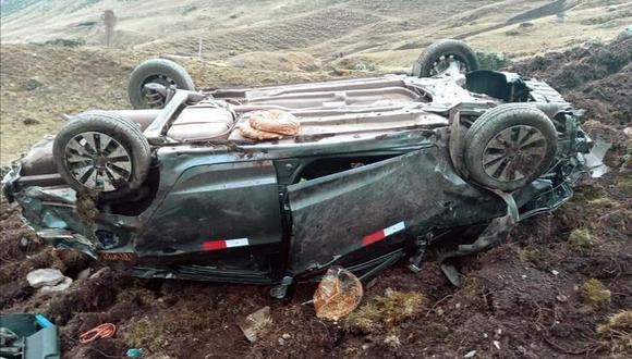 Cusco: en la unidad siniestrada, de placa X3Y-029, viajaban cuatro personas, dos de ellas fallecieron y otras dos resultaron heridas.