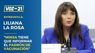 """Liliana La Rosa: """"El Minsa tiene que informar el padrón de vacunación"""""""
