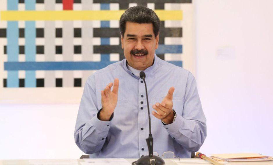 """Nicolás Maduro alabó a Roger Waters por su """"postura de comprensión, solidaridad y apoyo al pueblo de Venezuela frente al bloqueo imperialista estadounidense"""". (Foto: AFP)"""