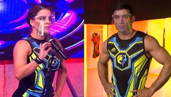 """""""Esto es Guerra"""": Alejandra Baigorria y Said Palao sorprenden tras escoger pertenecer a los guerreros. (Foto: captura de video)"""