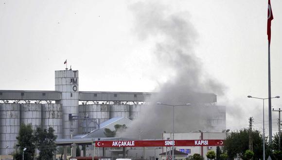 Proyectil impactó en la planta de Turkish Grain Board. (Reuters)