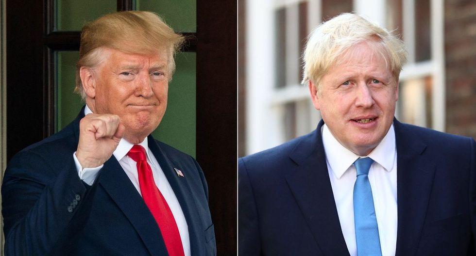 El mandatario de Estados Unidos se ha declarado como un gran seguidor de Boris Johnson. (Foto: EFE - Reuters)