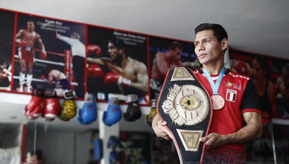 El boxeador Leodan Pezo ganó el Bronce para Perú en los Juegos Panamericanos Lima 2019. (Perú21/ César Campos)