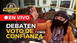 Congreso debate voto de confianza al gabinete de Mirtha Vásquez