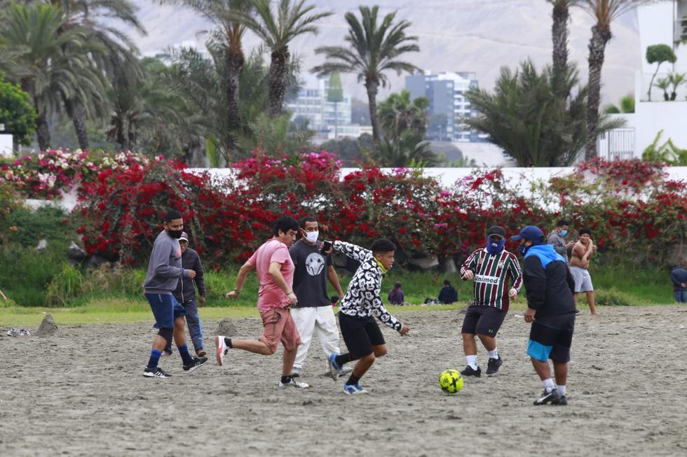 Las prácticas deportivas grupales están prohibidas a fin de prevenir contagios de COVID-19. (Fotos: Jessica Vicente/@photogec)