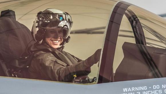 Primera vez que una mujer piloteará un avión militar F-35. (Foto: Facebook)
