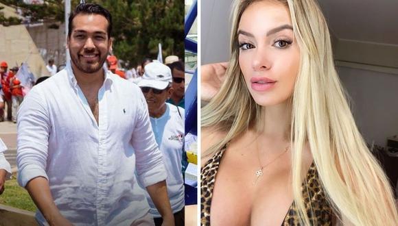 Jamila Dahabreh no quiso responder y se puso muy incómoda ante la insistencia de Rodrigo González y Gigi Mitre. (Foto: Instagram @jamiladahabreh / @apblamolina)