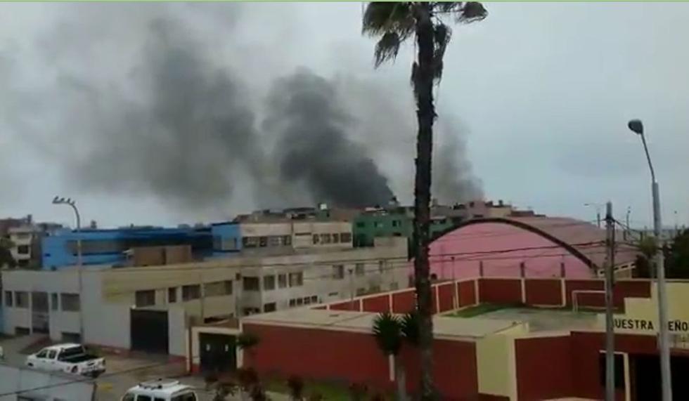 Maranguita: Gran humareda se concentra en el centro de rehabilitación.