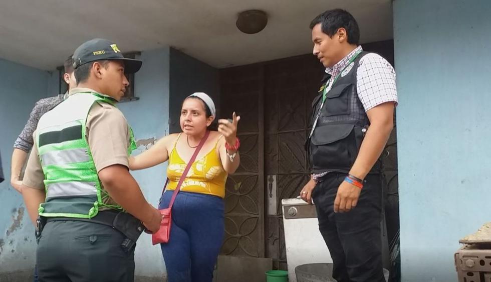 Scheznarda Cabanillas Garrido fue llevada a la comisaría de Monterrico para ser denunciada por maltrato animal. (Foto: Municipalidad de Surco)