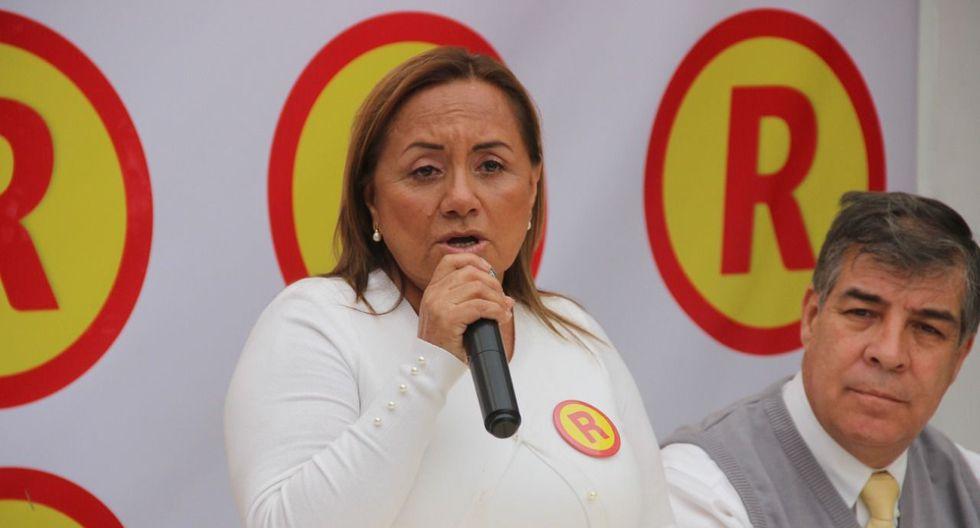 La ex congresista Rosa Núñez postula a la alcaldía de Trujillo por su movimiento Nueva Libertad. (Alan Benites)