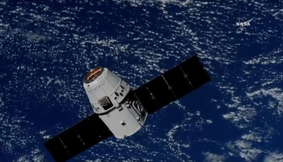 Cápsula Dragon llevó helado, ratones y el primer robot con IA a la Estación Espacial Internacional. (NASA)