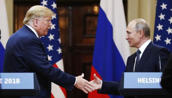 El mandatario de Estados Unidos, Donald Trump, y su homólogo ruso, Vladimir Putin. (Foto: AP)