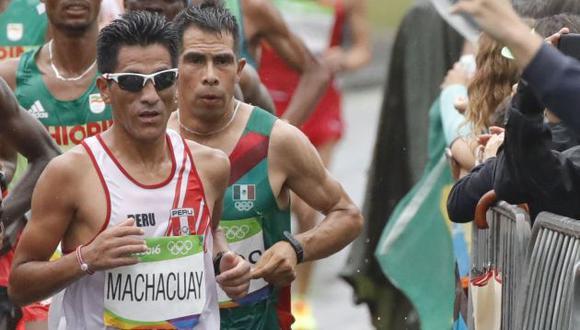 Raúl Machacuay y Jean Pierre Castro participaron del Mundial de Atletismo 2017, en Londres. (EFE)
